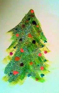 Glittery Christmas Tree by Louise