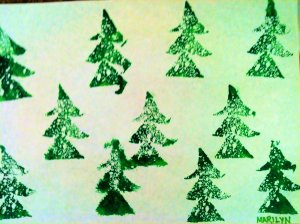Happy Holiday Trees by Marilyn