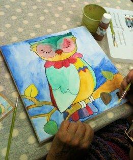 Edith's Owl, acrylic 2-16