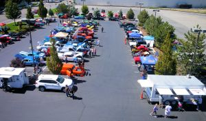 Bird's eye view of Summit Car Show 2014 073