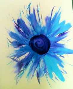 Feathers & Fingers Blue Floral by Louise