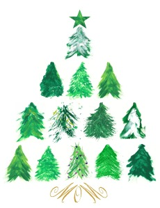 Alzheimer's Art Holiday Trees-2016