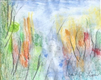 Oil Pastel + watercolor '15 Edith R. Lieder