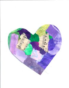 Pieces of My Heart by Katherine, February 2014 Paper Palette Collage