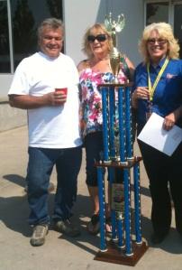 """Last year's Winners Judy & John Seifert with everybody's """"girlfriend"""" Rhonda!"""