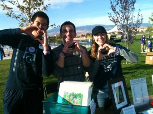 Reymon, Sean and Gabby Buma showing their love at our display table!