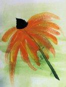 Acrylic on canvas Cone Flower by Sue W. SV