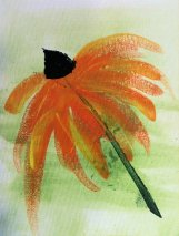 Acrylic on canvas Cone Flower by Sue W. SV