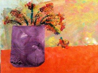 SE Sally Floral Collage Orange