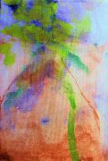 Water color on canvas Mary Ann SV vase