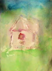AT SE water color resist birdhouse 1