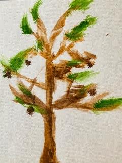Nancy's Pine Tree, Acrylic